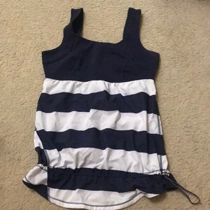 Lululemon cinched at the waist work out top